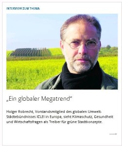 VDI-Nachrichten interviewt Holger Robrecht, ICLEI in Europ