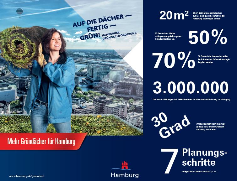 Informationsbroschüre / Behörde für Umwelt und Stadtentwicklung HamburgGründächer, DachbegrünungGründächer, Dachbegrünung, BUE, Behörde für Umwelt und Stadtentwicklung, Hamburg