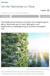 Von der Steinwüste zur Oase Im VDI-Nachrichten-Beitrag von Fabian Kurmann