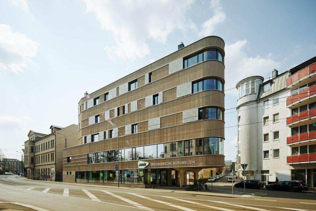 Mehrgeschossiges Holz-Wohnhaus in Leipzig